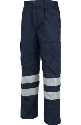 Pantalon multibolsillos con cinta reflectante B1407 Workteam